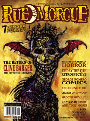 Halloween Cover Of Rue Morgue Magazine
